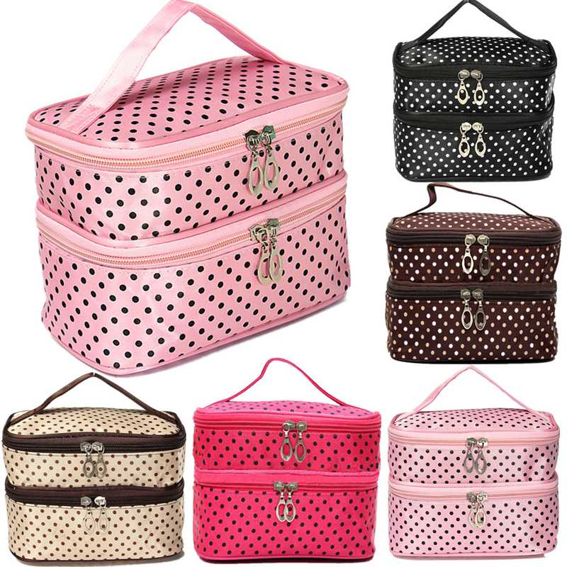 Гаджет  Fashion Toiletry Travel Makeup Bag Wash Organizer Case Make Up Cosmetic Dot Zip Hanging Bags Holder 3 Colors To Choose None Камера и Сумки