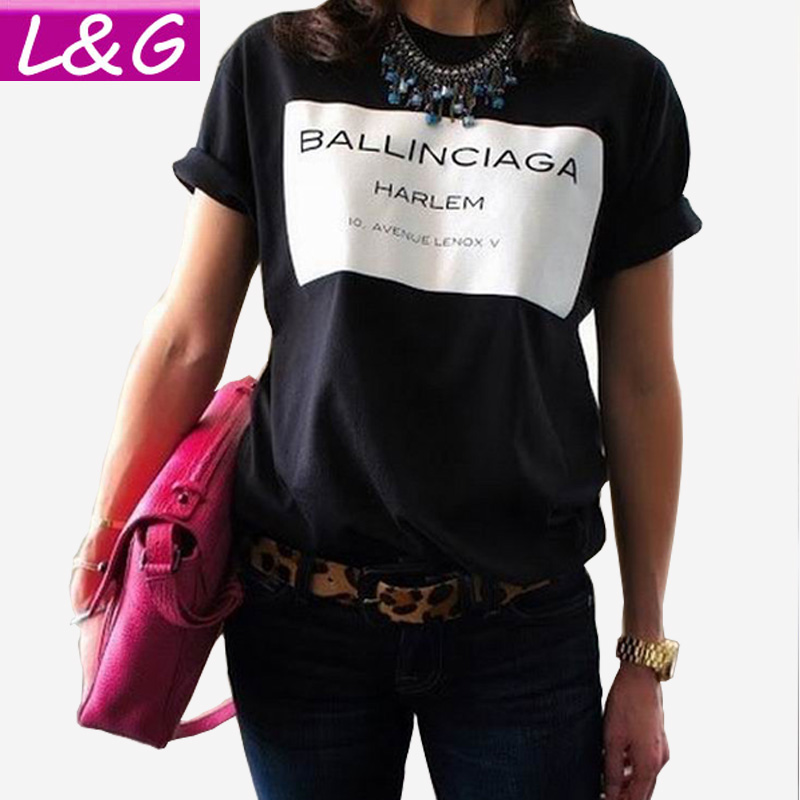 Summer style 2016 women t shirt hot selling ballinciaga How to sell shirts