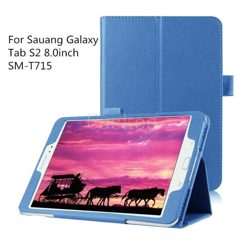 For Samsung Galaxy Tab S2 8.0inch,Slim Folding Cover Case for Samsung Galaxy Tab S2 8.0 (SM-T715) Android 5.0 2015 Version(China (Mainland))