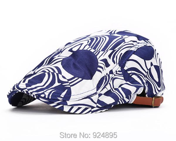 Fashion Newsboy Cap Beret Hat Spring Summer Driver Cabbie Visor Hats Vintage Women Peaked cap head circumference 54--58CM - Good Factory store