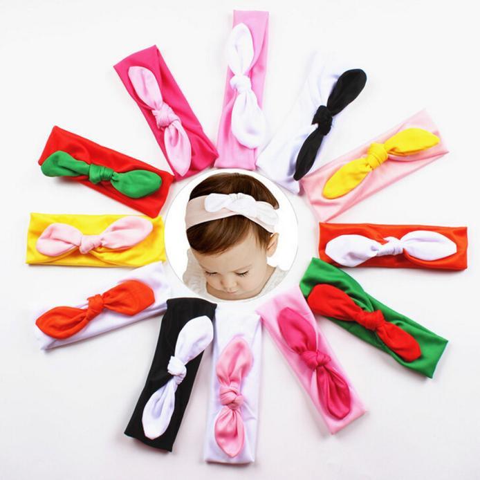 Baby Kids Girls Rabbit Bow Ear Hairband Headband Turban Knot Head Wraps(China (Mainland))