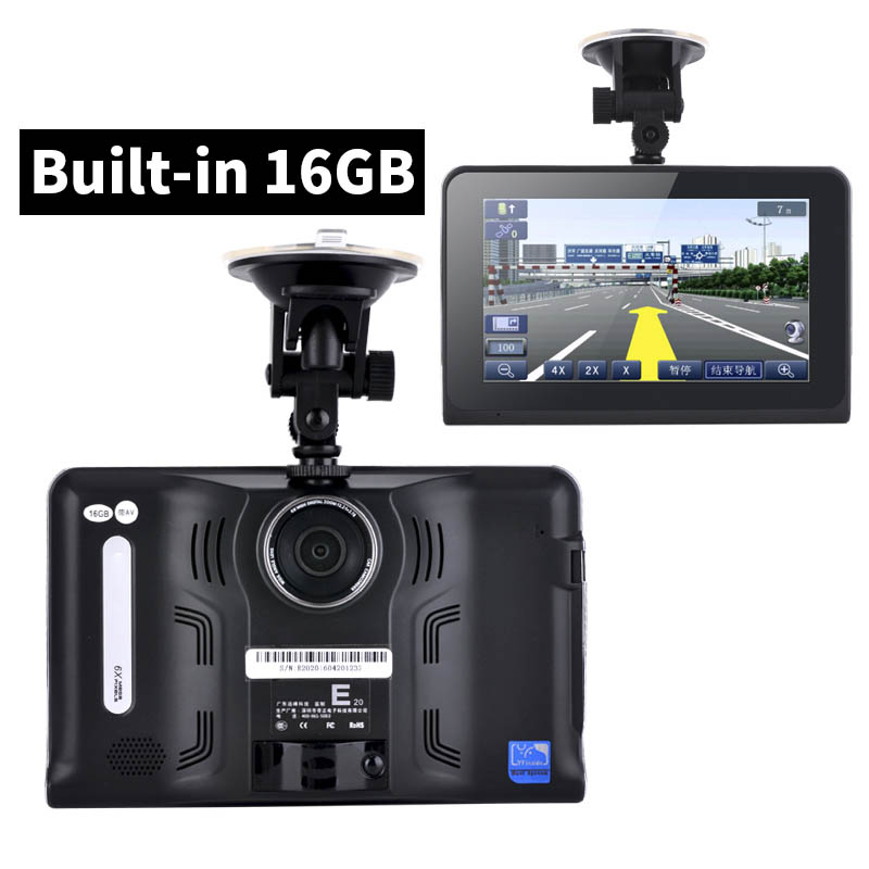 7 inch HD Android Car GPS Navigation Auto Detector Car DVR Camera Recorder Truck vehicle gps Russia/Europe/Navitel map 8GB/16GB(China (Mainland))
