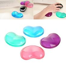 Heart Silicon Mouse Pad Clear Wristband Pad For Desktop Computer Wonderful Gift jn4(China (Mainland))