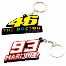 PVC Rubber Motorcycle Key rings Keychain Motocross Keyring Moto Fans Souvenirs Gift For Marc Marquez 93 valentino rossi 46