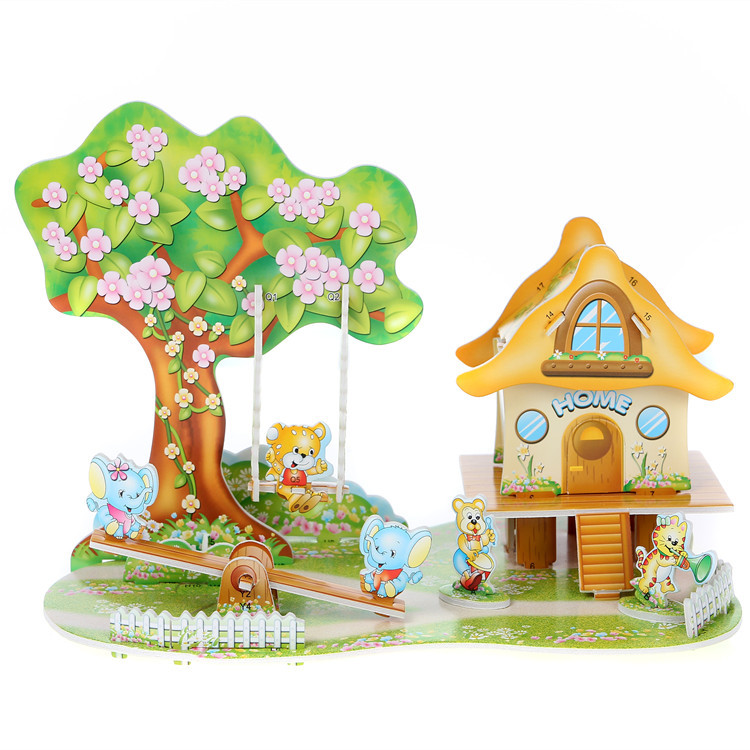 Children's toys 3d puzzles Castle class the girl most loves puzzles for children kids educational toys 7 year olds(China (Mainland))