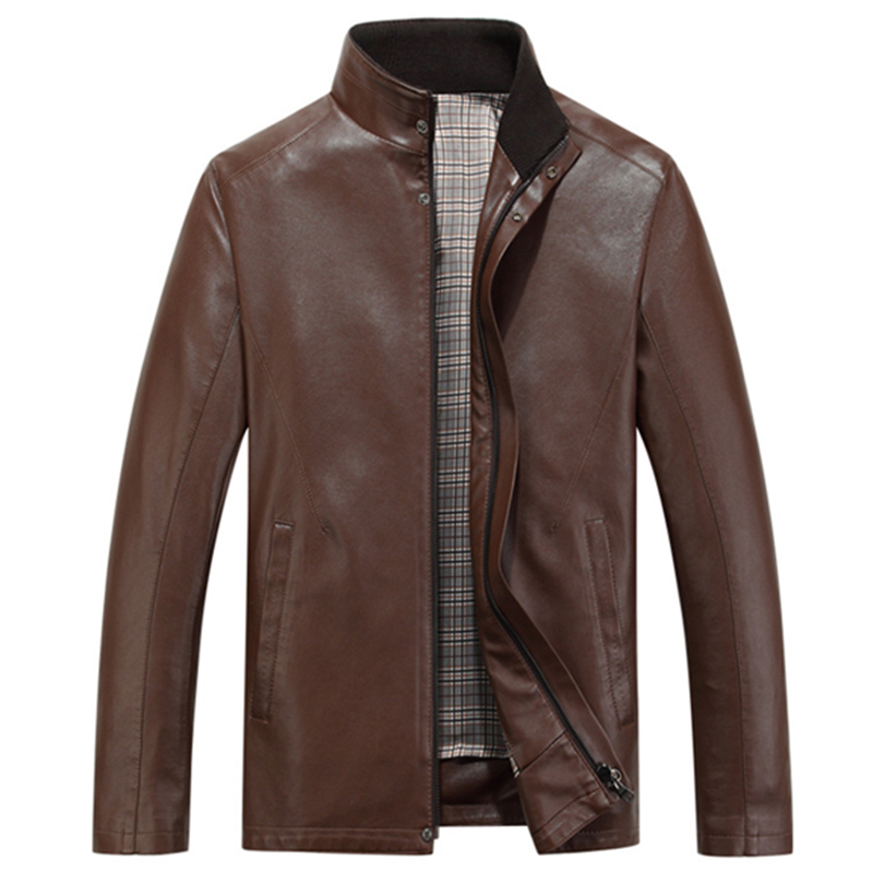 Affordable Men's Designer Clothes Leather Jacket Men Stand