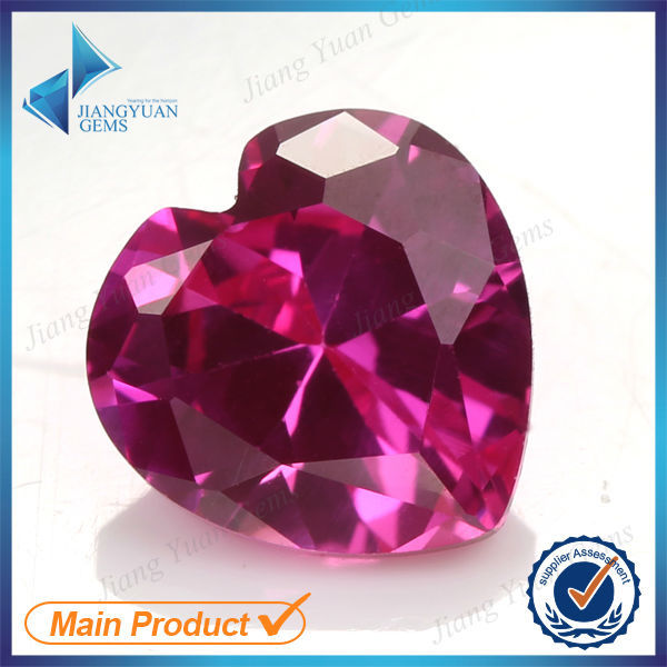 Factory Price 3# 50pcs 2x2~10x10mm Heart Cut Ruby Stone Synthetic Corundum Gemstone For jewelry(China (Mainland))