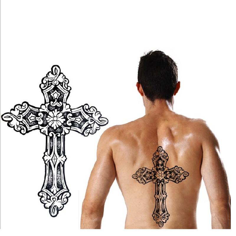 Achetez en gros grande croix tatouages en ligne des - Tatouage croix femme ...