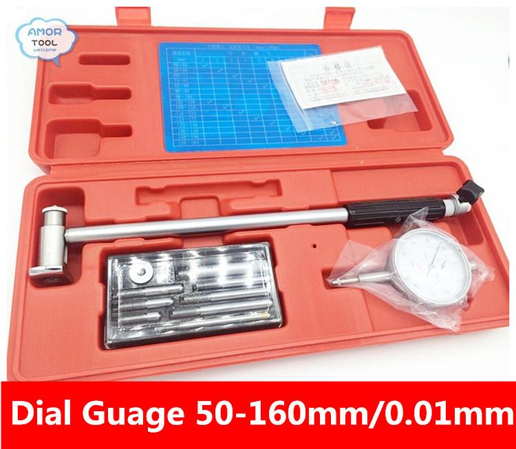 Циферблатный индикатор GUANGLU 50/160 /0.01 Dial reloj comparador 157 циферблатный индикатор links 0 1mm 0 001mm8