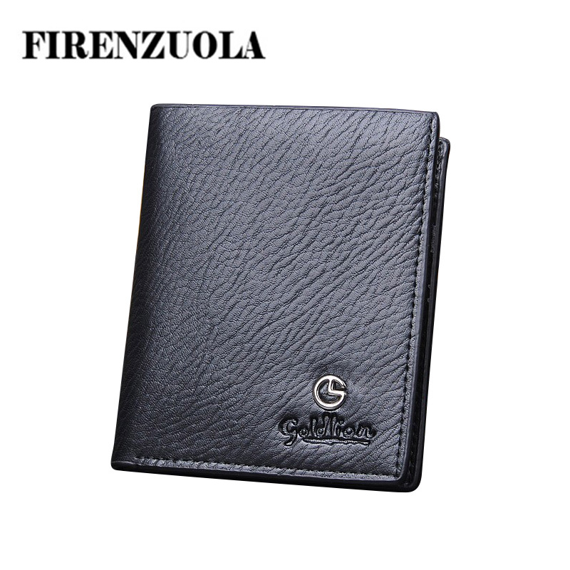 Men Genuine Leather Wallets fashion desigual black brown purse 2014 New Arrived Free Shipping # 406(China (Mainland))