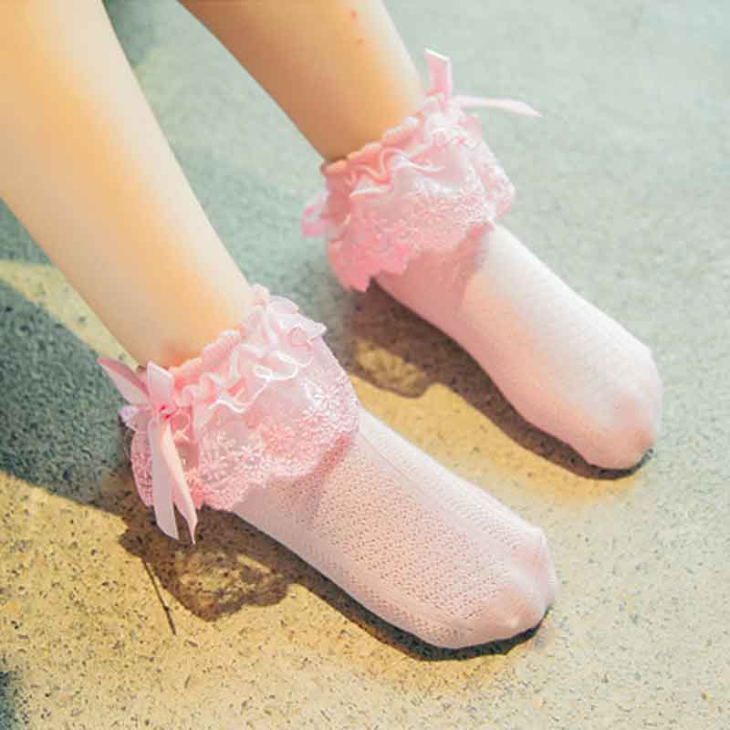 Cute Candy Color Korean Girls Lace Socks Kids Cozy Absorb Sweat Calzini Cotton Chaussette Enfants Ankle Sock Solid Free Shipping