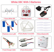 SYMA x8w & x8c FPV RC Drone 6-Axis Professional  Quadcopter With 2MP WiFi Camera RC Helicopter With Battery And 2 Motors As Gift(China (Mainland))