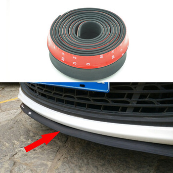 Universal TPVC Front Bumper Lip Skirt Protector Size 2.5m Length 6.5cm Front Bumper Strip Car Scratch Proof YA012