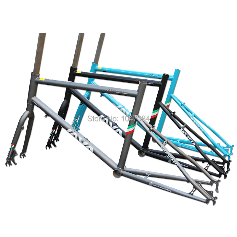 Java wheel frame chrome molybdenum steel road bike MTB mountain bike frame  front fork set 2015 NEW style(China (Mainland))