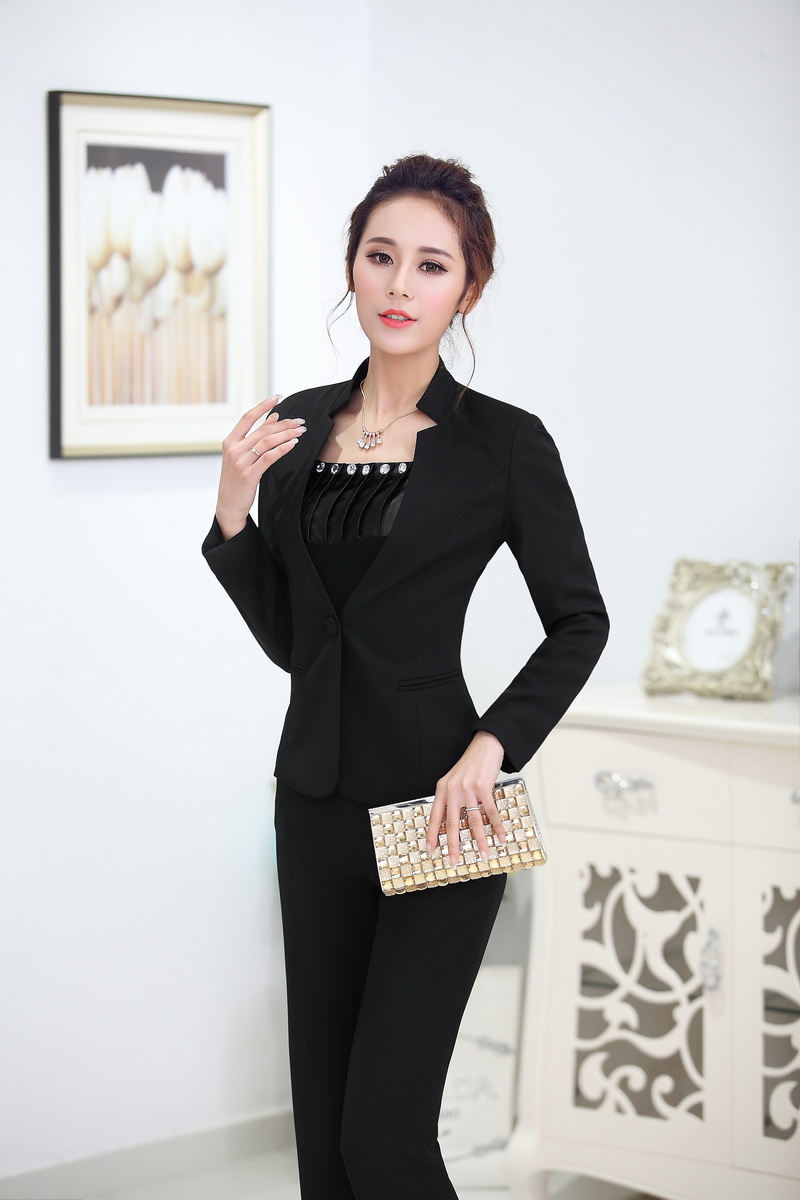 Formal Women Business Suits Formal Office Suits Work Pant And Blazer Sets Elegant Professional ...