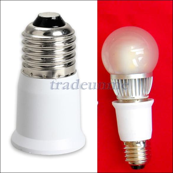 Гаджет  E27 to E27 Extension Base CLF LED Light Bulb Lamp Adapter Socket Converter None Свет и освещение