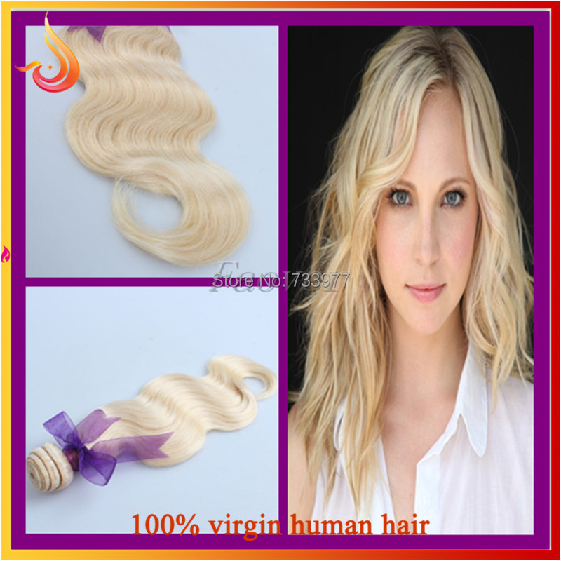 3pcs/lot 7A Light Blonde 613# Color European Hair Extension Weave Body Wave Hair Weft With Good Quality Qingdao Wholesale Price(China (Mainland))