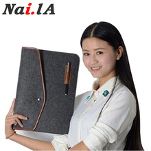 Nai.la New 13 inch Laptop sleeve for Macbook Air/Pro 13.3 Lenovo /Acer/Sumsung/Asus/Dell Laptop Bag below 13inch Wool Felt Bag(China (Mainland))