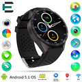 E T KW88 Android 5 1 MTK6580 quad core smart wrist watch 1 39 400 400