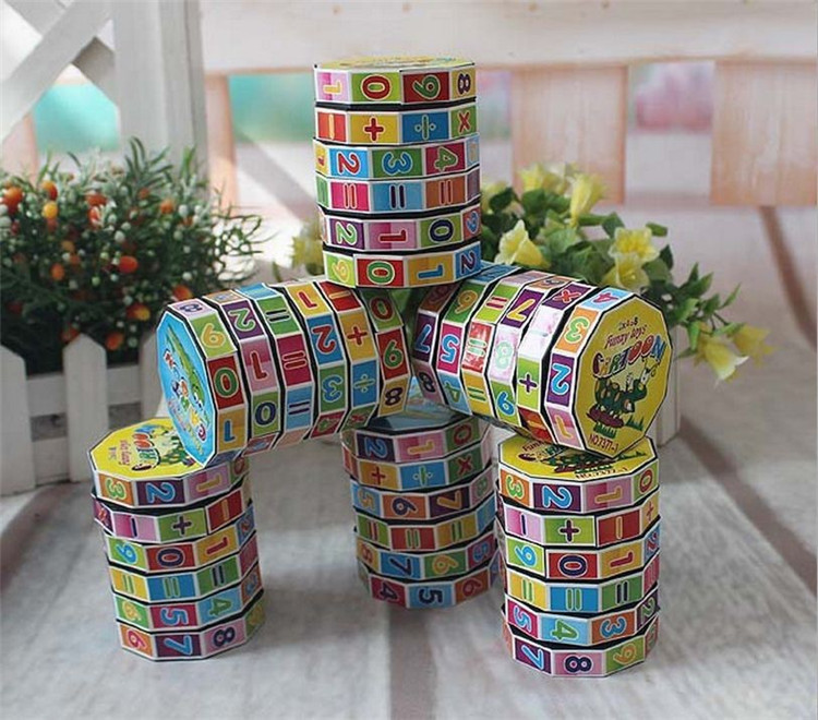 Fashion Mathematics Numbers Magic Cube Toy Puzzle Game for Children Kids Math Education and Joy Free Shipping(China (Mainland))