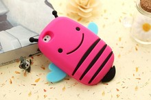 Buy 100PCS new 3 d bee following iphone 4 4 s apple 5 5 s cartoon silicone mobile phone protection shell for $210.50 in AliExpress store