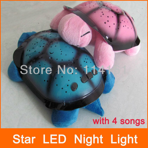 Turtle Led Night Light With 4 Colors 4 Songs For Home