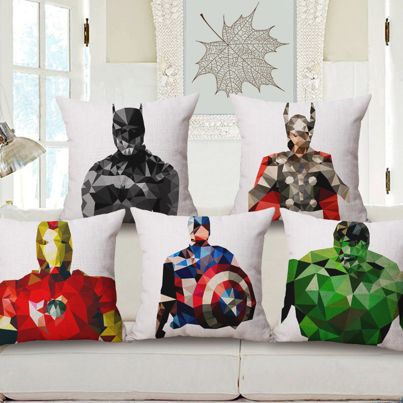 45cm 200g Classics Justice League Thick Fashion Cotton Linen Throw Pillow Hot Sale 18 Inch New Home Decor Sofa Back Cushion MQQ