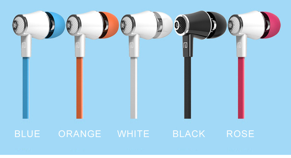 10 Colors Micro Earphone 3.5MM Super Bass In-ear Best Quality With MIC headset Handsfree For Mobile Phone+Storage Box