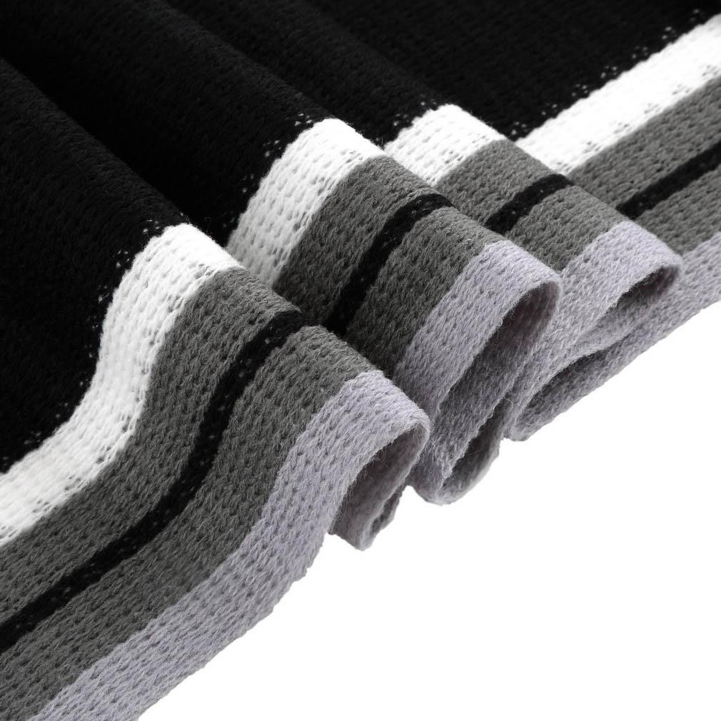 новый дизайнер моды мужчин классический кашемировый шарф зимы теплой мягкой бахрома полосатый кисточкой шаль обернуть полосатый шарф мужчин Шарфы