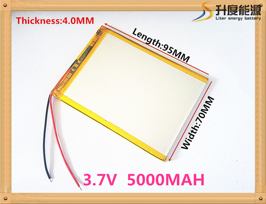 "407095 3.7V 5000mah Lithium polymer battery For 7"" Tablet Q88 A13,U25GT,Freeander PD10 3G,PD20 3G TV MTK6575,MTK6577(China (Mainland))"