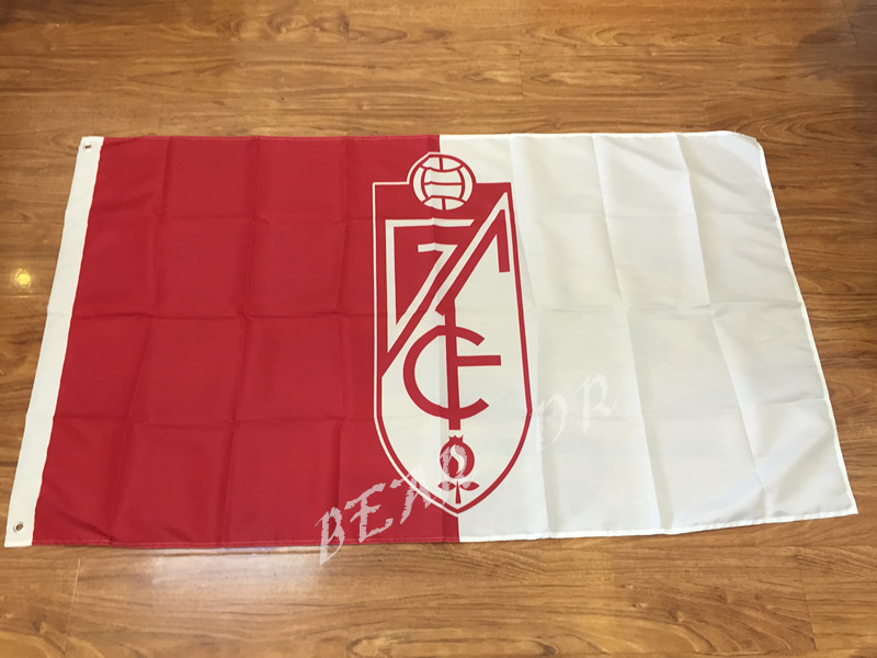 90x150cm La Ligae Granada CF flag Metal hole 100D Digital Printing 3x5FT football soccer banner Free shipping(China (Mainland))
