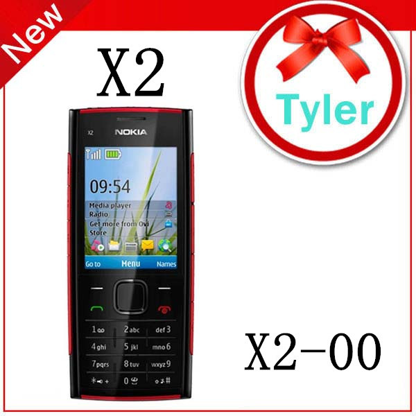 X2 Original Nokia X2-00 Bluetooth FM JAVA 5MP Unlocked Mobile Phone,Free Shipping(China (Mainland))