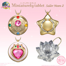 Japanese Anime Original Bandai Sailor Moon 20th Anniversary Miniaturely Tablet Candy Toys Part.2 Set (No Candy) of 4 pcs(China (Mainland))