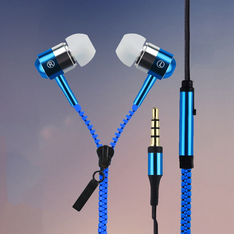 2016 New Metal Zipper headphones headsets earphones with mic for IPHONE 4 4s 5 5s for ipad 2 3 4 mini mp3 mp4 For samsung S5 S6<br><br>Aliexpress