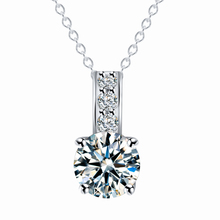 Women Jewelry Classic Necklace Rose Gold Plated Austrian Crystal Round Pendant Necklaces collares Wholesale colliers 2015