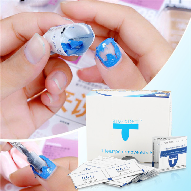 Perfect Summer 20pcs Gel Polish Remover Wraps Pads Manicure Tools Wet Wipes Paper Pads Foil Nail Art Cleaner For LED UV Gel(China (Mainland))