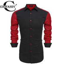 Coofandy 2016 Men Dot Casual Shirts For Men Hot Sale Plus Size 3XL Long Sleeve Slim Fit Men Dress Shirts Men Camisas Masculinas