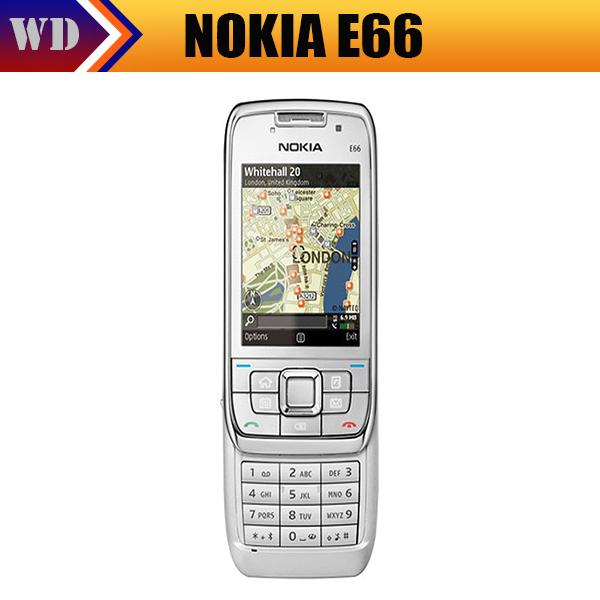 Original Nokia E66 Unlocked 3G Mobile Phone WIFI GPS Bluetooth Russian Keyboard Cell Phone In Stock Singapore Freeshipping(China (Mainland))
