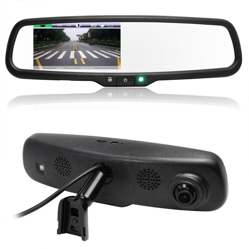 Full HD 1080P 170 Degree HD 800*480 4.3 Inch TFT LCD Screen Car DVR Video Recorder Parking Rear View Rearview Mirror Monitor(China (Mainland))