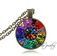 1 pc Homestuck necklace god Mandala pendant necklace women vintage jewelry art picture glass cabochon pendant choker necklaces(China (Mainland))