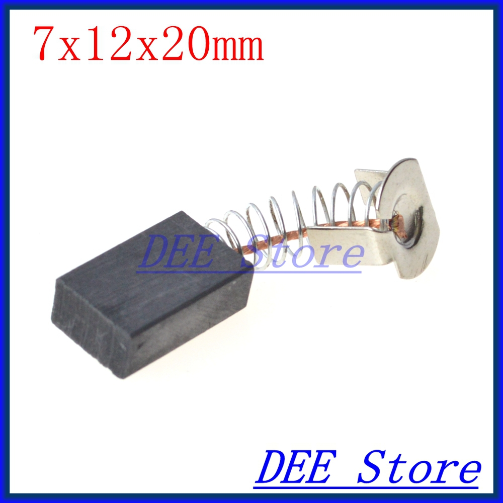 20pcs 7x12x20mm Electric Motor Carbon Brushes Springs Wire
