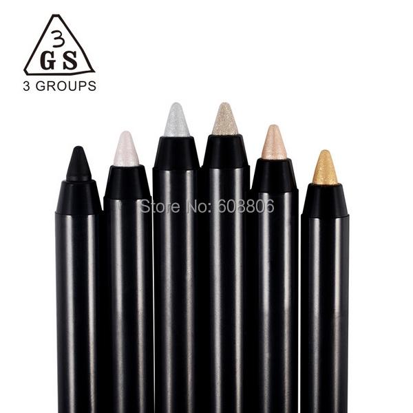3GS Cosmetic Pencil Makeup Eyeliner Pen Eye Make Eyebrows Waterproof 6 colors choose - Shenzhen Bosan Technology Co., Ltd. store