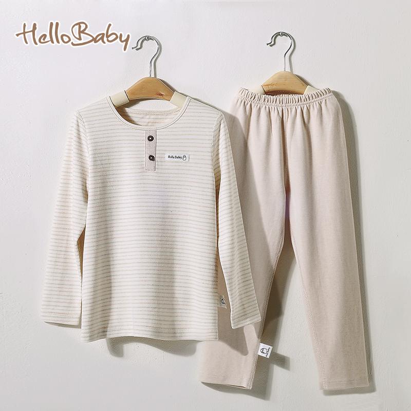 Spring and autumn 100% cotton children's pajamas leisure suit male and female baby pajamas Pyjamas common sleep pants Tops(China (Mainland))