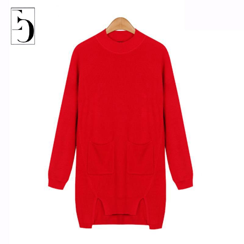 Europe Brand Women Dress Style Sweater Autumn Fashion 2015 New Asymmetric Knitting Pullovers Casual Slim Womens Long Sweater 5XLОдежда и ак�е��уары<br><br><br>Aliexpress