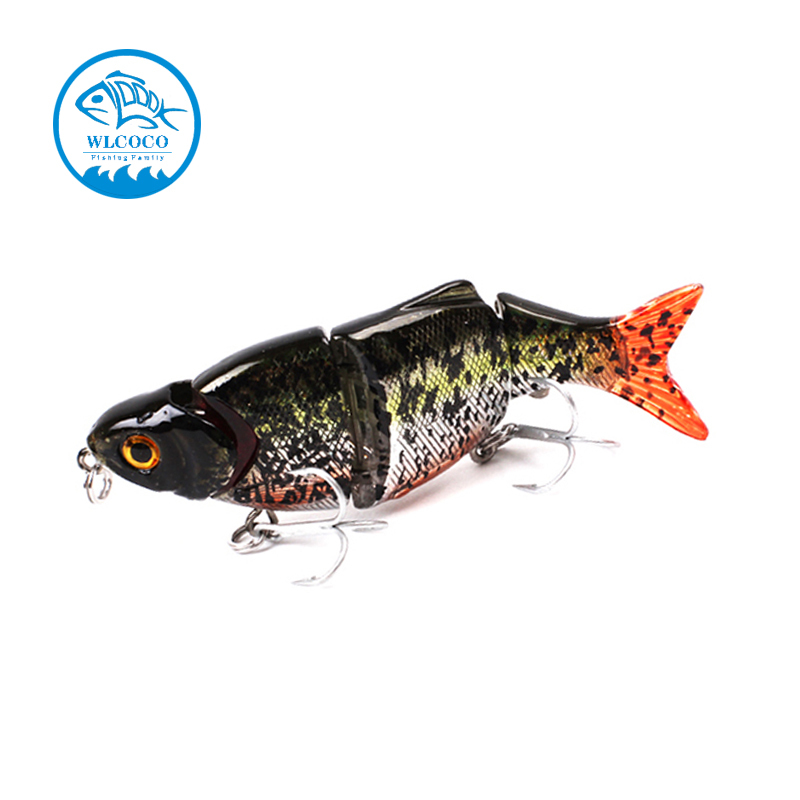 Hard Minnow Fish Of Three Segments 25g 105mm Heavy Fishing Lures Artificial Bait Slow Sinking With Treble Hook(China (Mainland))
