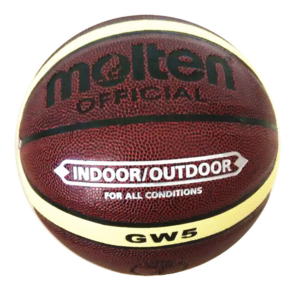 Brand Basket Molten GW5 Basketball Ball PU Materia Leather Official Size 5 kid's Basketball Free Ball Pump+ Net Bag+ Needle(China (Mainland))