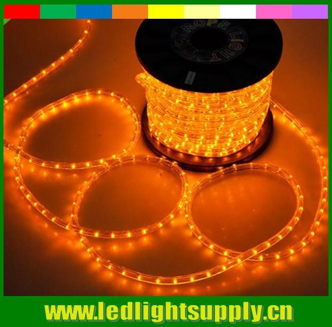 50m 12v DIP round 2 wires rope light flexible led light string spool 36leds/m 10mm PVC tube neon light Christmas garden lights(China (Mainland))