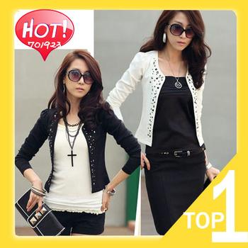 2014 new hot sale  Fashion Cozy women clothes Shawl Coat Comfortable leisure slim Wild suit Ms. jacket lady Y3444