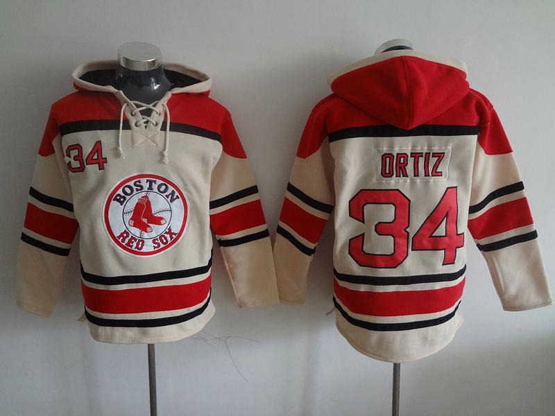 David Ortiz Hoodie #34 Boston Red Sox Baseball Hoodies 2016 New Sweatshirts Embroidery stitched Winter Hoody