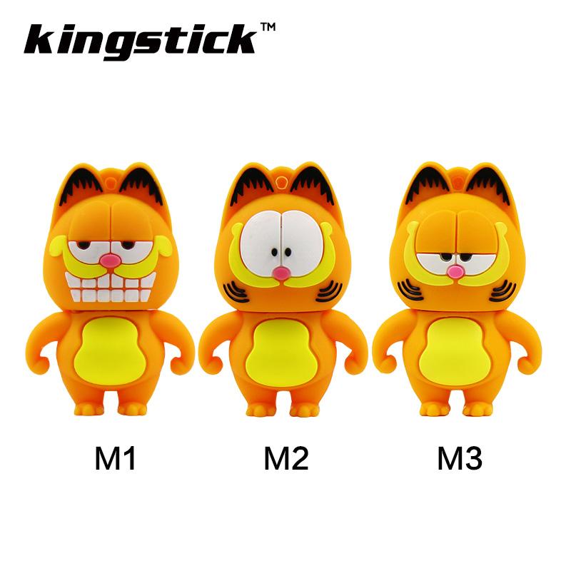 Cute cartoon Garfield cat usb flash drive 32GB 64GB USB drive pen drive 4GB 8GB 16GB pendrive flash memory disk(China (Mainland))